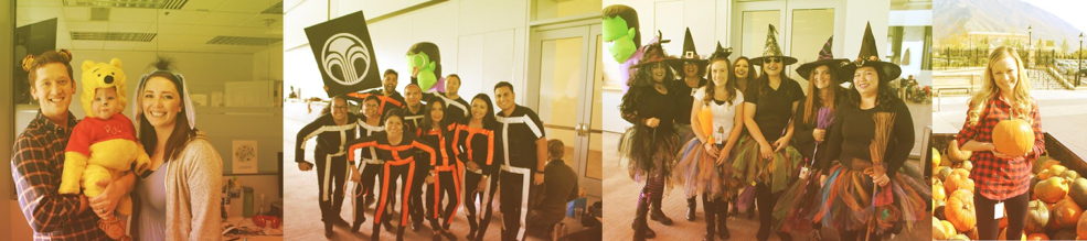 Nu Skin staff celebrates Halloween by dressing up in costumes and collecting pumpkins