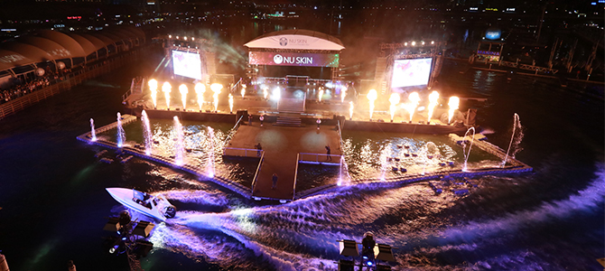 Floating water show for Nuskin's greater china success celebration