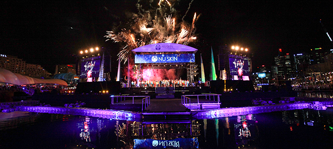 Firework show for Nu Skin success trip celebration in Australia